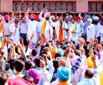 2019 Lok Sabha elections - Gurjeet Singh Aujla, Raj Kumar Verka during a roadshow