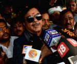 Shatrughan Sinha at Patna Airport