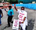 Cong MP Ripun Bora rides bicycle to parliament to protest fuel hike