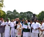 Congress MPs protest at Parliament