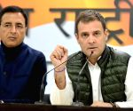 Rahul Gandhi addressing media