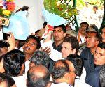 Rahul Gandhi during party meeting