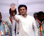 Rahul Gandhi at Congress rally
