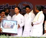 Rahul Gandhi addresses public meeting in Karnataka