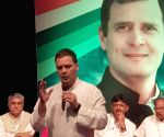 Rahul Gandhi during an interaction with industrialists