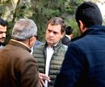 Rahul Gandhi interacts with party workers