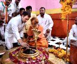 Rahul Gandhi visits Tilbhandeshwar Mahadeva Temple in Madhya Pradesh
