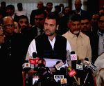 Rahul Gandhi talks to media person