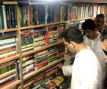 Rahul Gandhi visits a book store