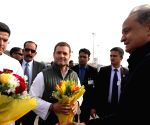 Rahul Gandhi at Gehlot' swearing-in ceremony
