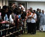 NSUI members visit Sonia Gandhi post victory in DU elections