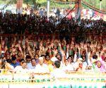 Rahul Gandhi at a public rally in Himachal Pradesh