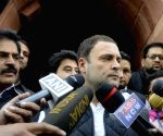 Winter session of parliament - Rahul Gandhi