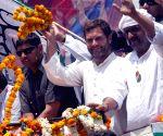 Rahul Gandhi campaigning for Ajay Rai
