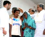 Rahul Gandhi meets the family member who committed suicide