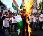 : Kolkata: Congress demonstration against Nawaz Sharif