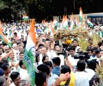 Congress' protest against Central Govt over flood relief funds