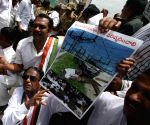 Congress demonstration against shortage of electricity to farmers