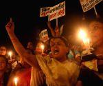 Congress' candlelight vigil at India Gate