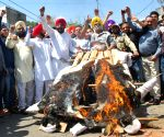 Congress demonstration against excise duty on jewellery
