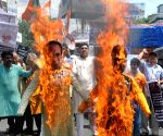 Congress demonstration against killing of five MP farmers