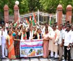 Congress demonstration over fuel price hike
