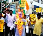 Congress demonstration against hike in fuel prices