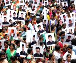 Congress protests against the arrest of  D. K. Shivakumar