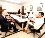 French Consul General Francois Gautier meets TRS working president KT Rama Rao