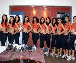 Contestants of Femina Miss India 2009 at Talwalkars Gym.