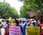 Free Photo: Contractual workers of Lady Hardinge Hospital protest against salary due