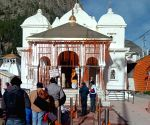 Free Photo: Corona Protocol: Symbolically opened Gangotri Dham kapats.