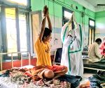 Covid patients performing Yoga in Tripura Hospitals.