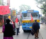 CPI activists block vehicular movement during nationwide trade union strike