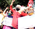 CPI protests against three contentious farm laws at Dadar