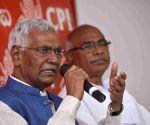 D Raja's press conference