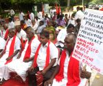 CPI leader D. Raja staged a protest supporting SC/ST Act