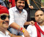 Kanhaiya Kumar during Raksha Bandhan celebrations