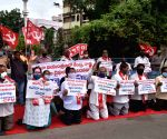 CPI-M protests demanding more COVID-19 tests be conducted