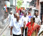 Nandini Mukherjee during an election campaign