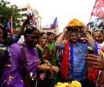 Sitaram Yechury during 'Bonalu' celebrations