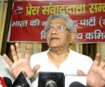 Sitaram Yechury addresses during press conference