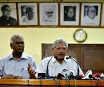 Sitaram Yechury, D Raja address press conference