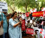 Left parties demonstrate against FDI