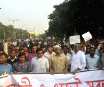 : (211116) Kolkata: Chit Fund Sufferers Forum's rally - Sujan Chakraborty, Abdul Mannan