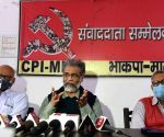 CPI-ML General Secretary Dipankar Bhattacharya addressing a press conference in Patna, Bihar on Wednesday 24th February, 2021
