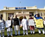 Bihar Assembly Winter Session - Day 2 - CPI-ML legislators protest