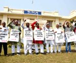 CPI-ML legislators stage protest at Bihar Assembly on going budget session
