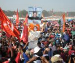 CPM-led Left Front, ISF and the Congress, joint rally at Kolkata Brigade Parade ground on Sunday 28th February, 2021