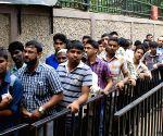 Cricket fans queue-up to buy IPL tickets
